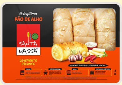 Pão de Alho Picante - Santa Massa 400gr