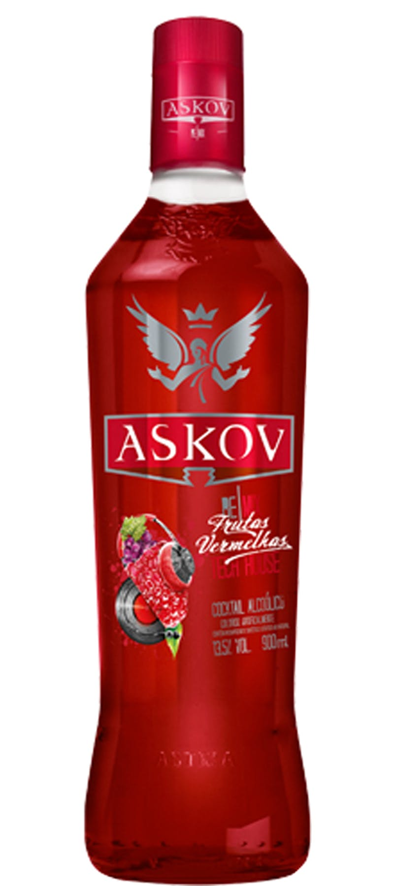 Vodka Askov Frutas Vermelhas 900ml