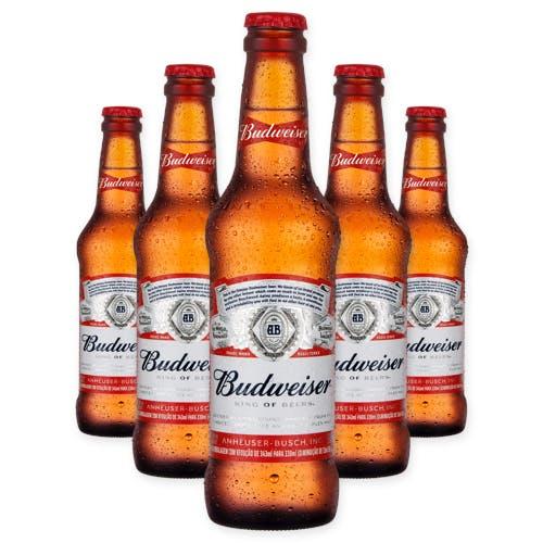 Budweiser 330ml - Pack com 6 Unidades