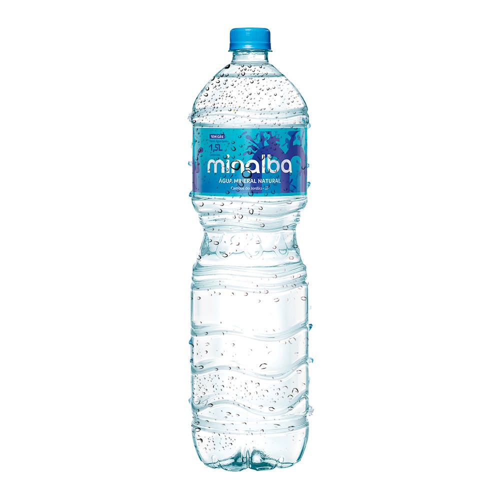 Água Sem Gás Minalba 1,5L