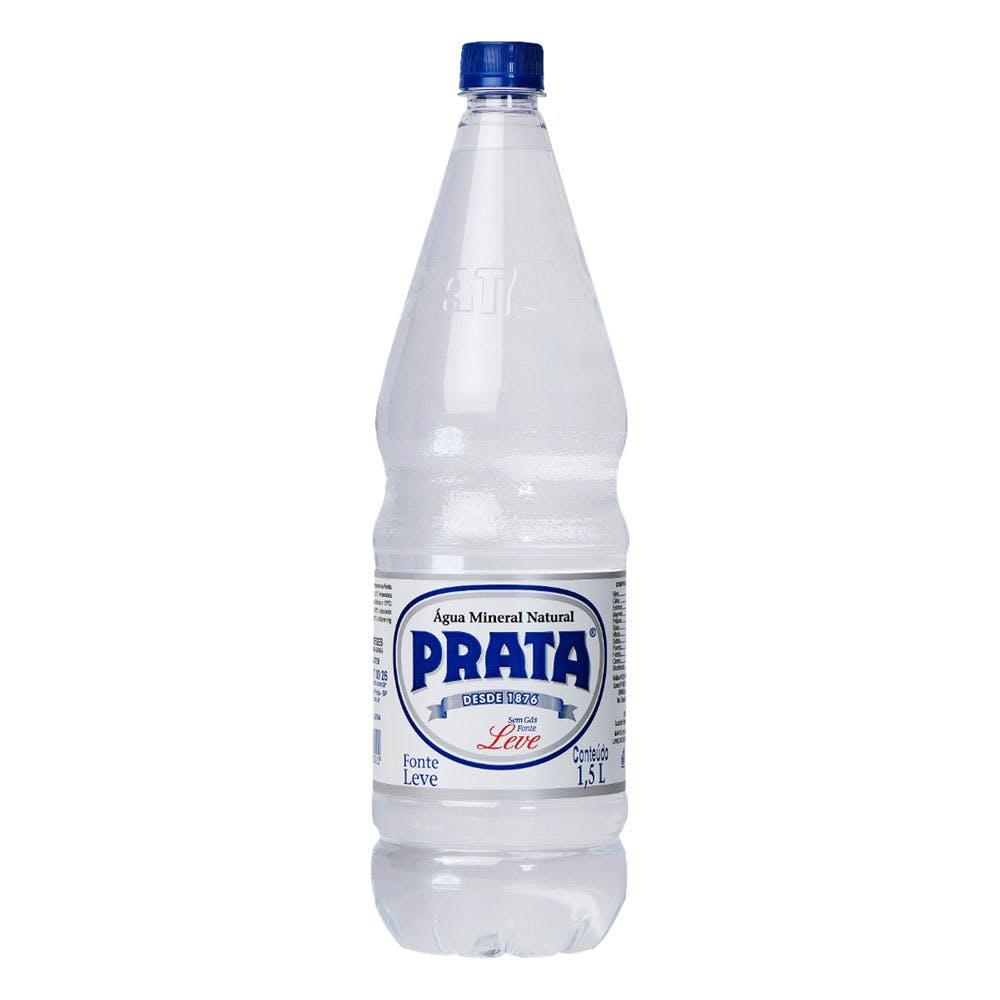 Água Sem Gás Prata 1,5L