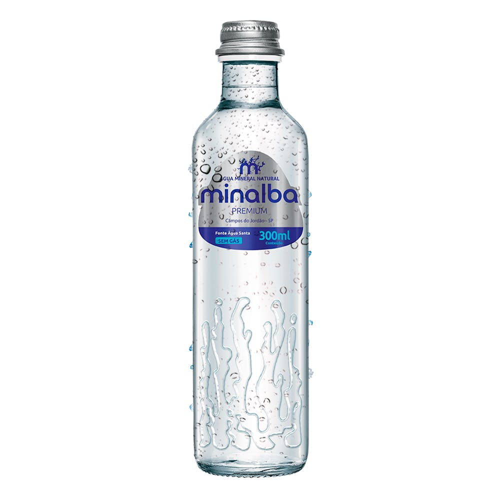 Água Sem Gás Minalba Premium 300ml