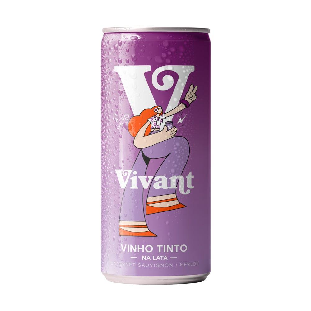 Vinho Tinto Vivant Lata 269ml