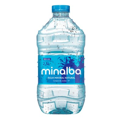 Água Sem Gás Minalba 2,5L