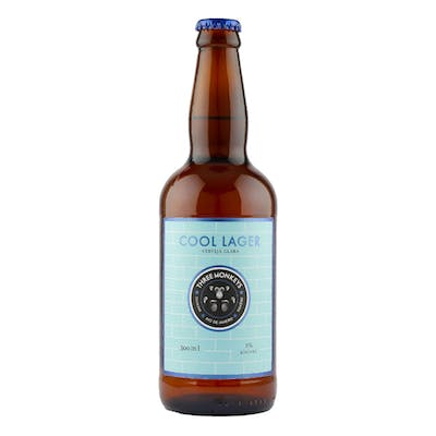 Three Monkeys Cool Lager 500ml