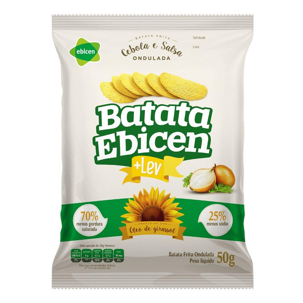 Batata Ondulada Sabor Cebola e Salsa Ebicen 50g