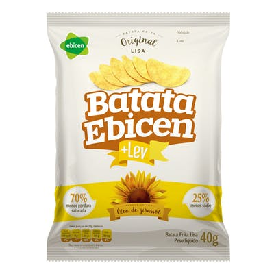 Batata Lisa Original Ebicen 40g