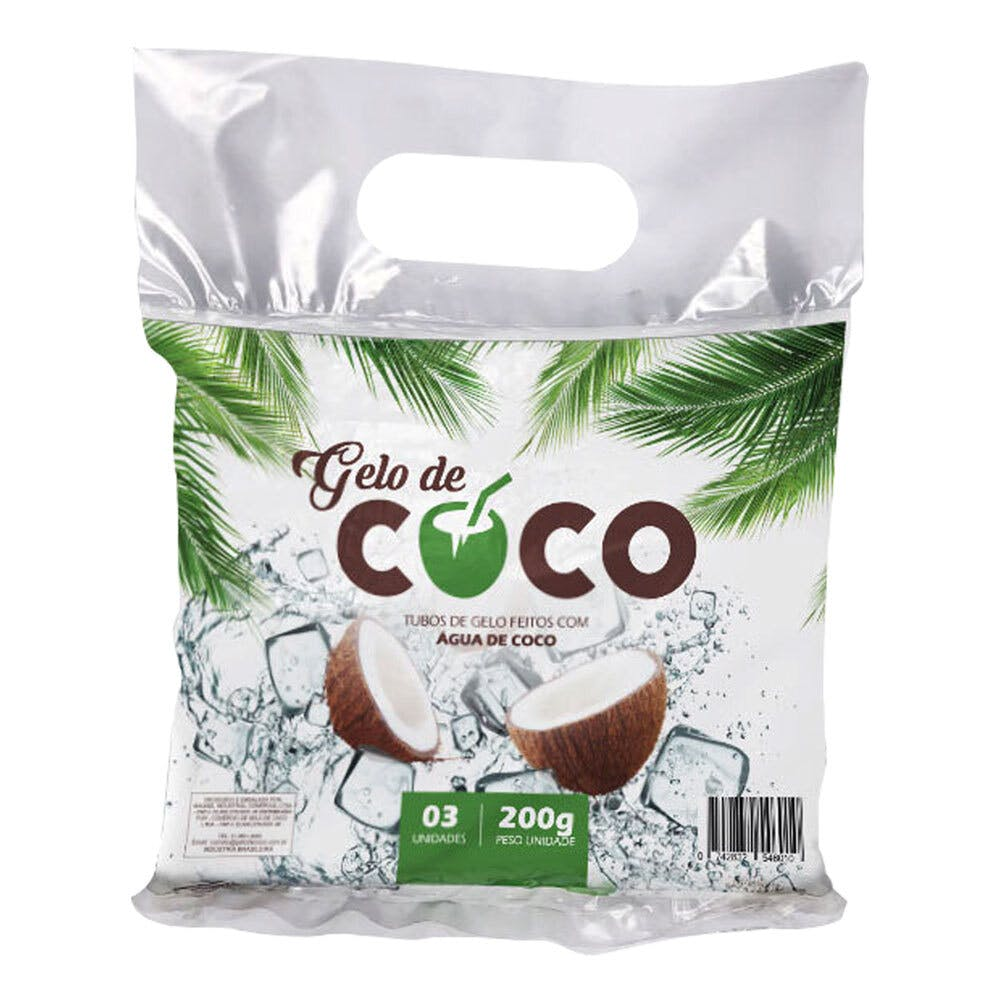 Gelo de Água de Coco - Marca Gelo de Coco 600g