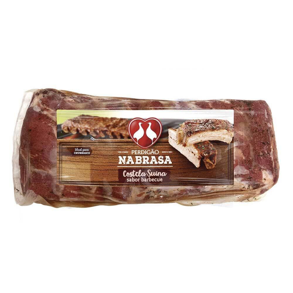 Costela Suína Sabor Barbecue Perdigão Congelada 1kg a 1,2kg