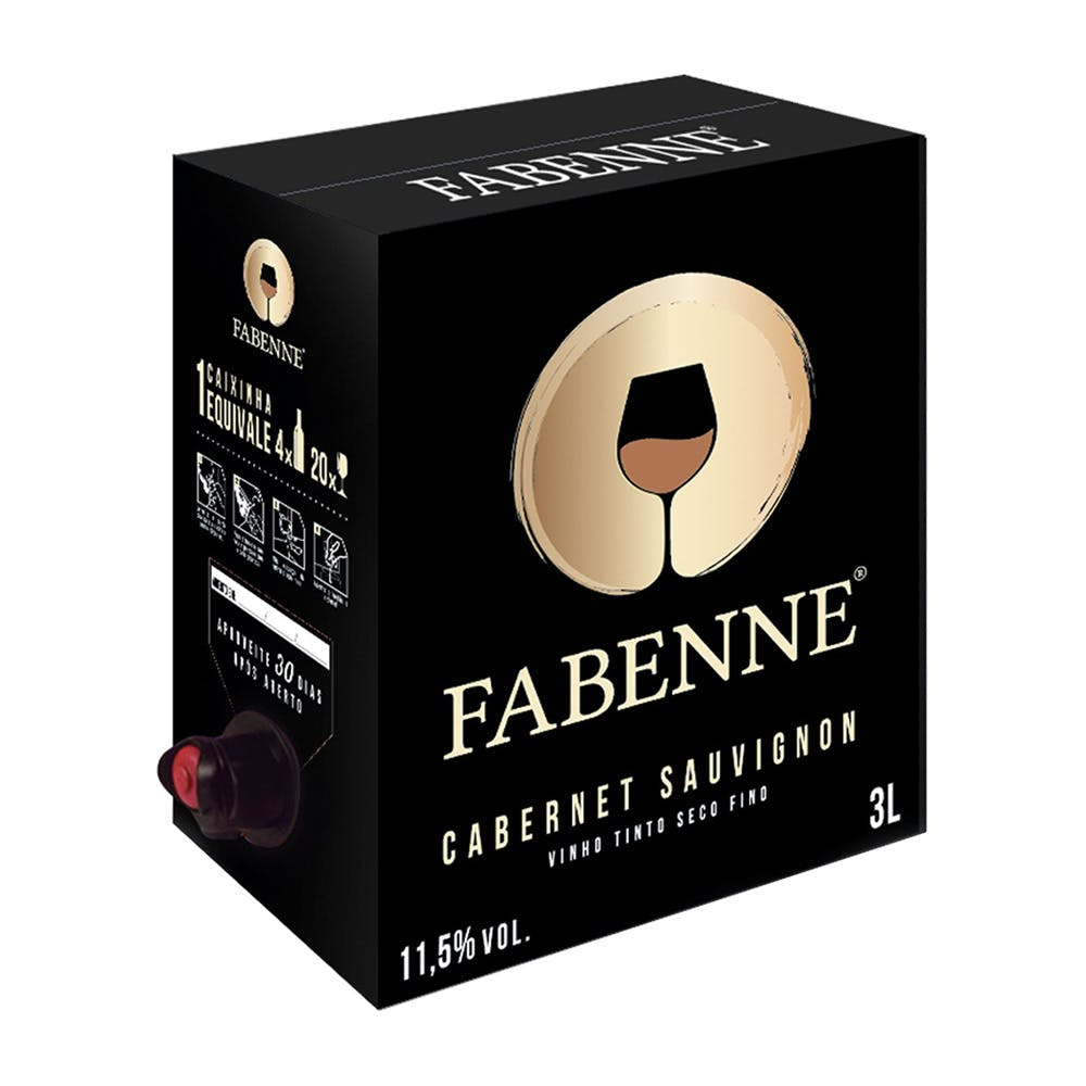 Vinho Tinto Cabernet Sauvignon Fabenne Bag 3L