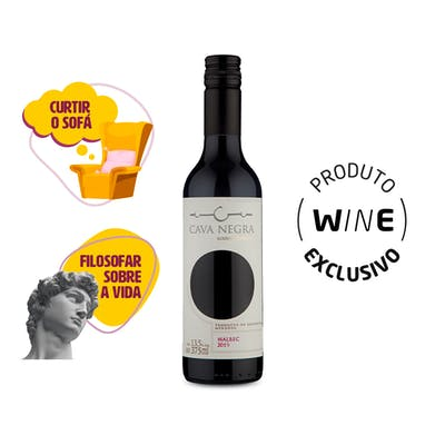 Vinho Tinto Malbec Cava Negra 375ml