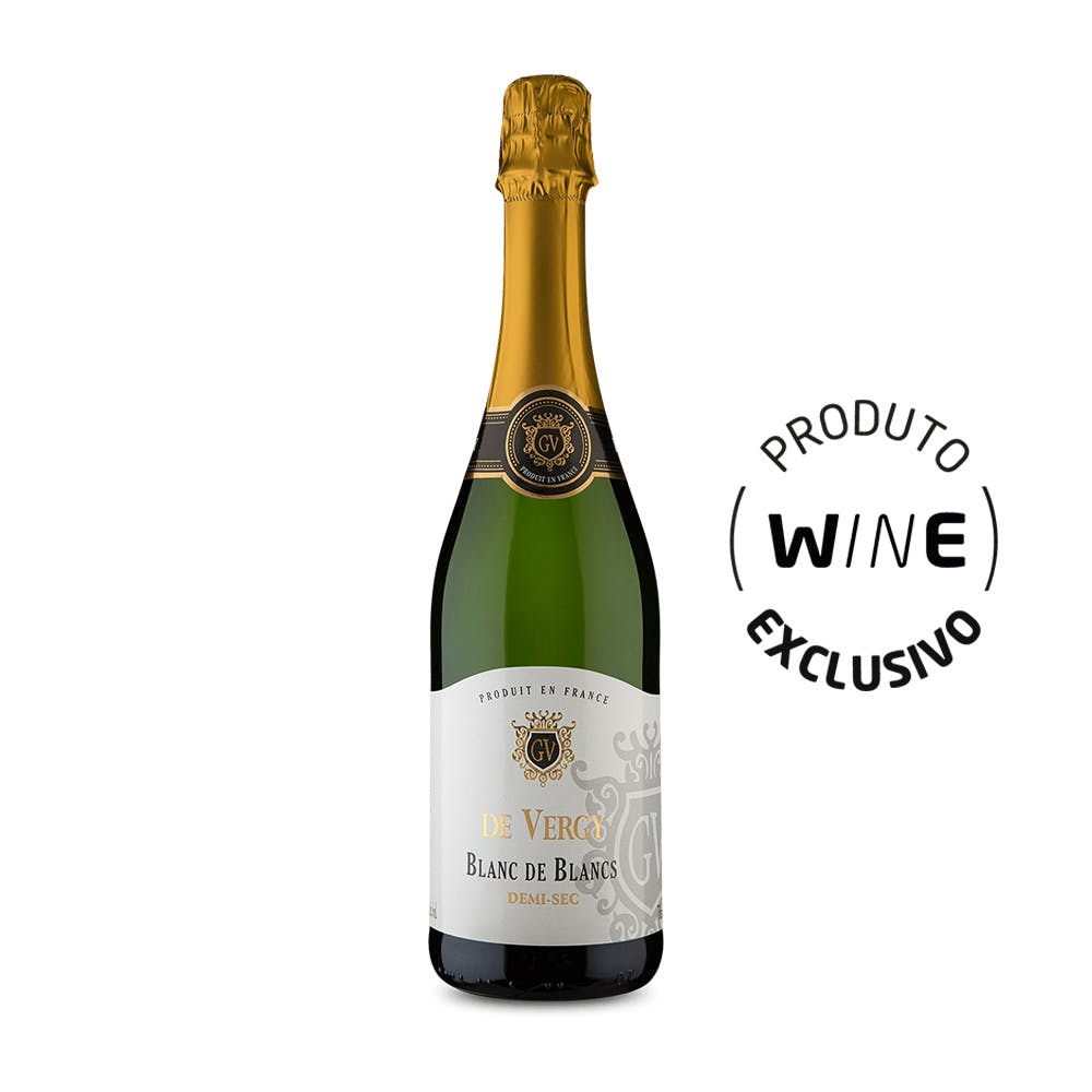 Espumante Brut Blanc de Blancs Demi-Sec De Vergy 750ml