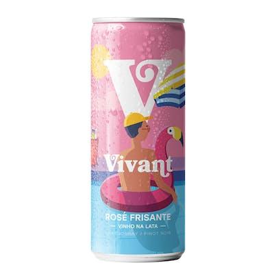 Vinho Rosé Frisante Vivant Lata 269ml