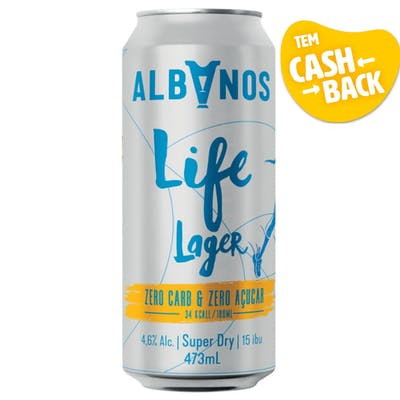 Albanos Life Lager Super Dry Lata 473ml