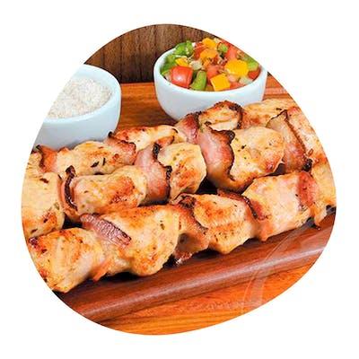 Espetinho de Frango com Bacon
