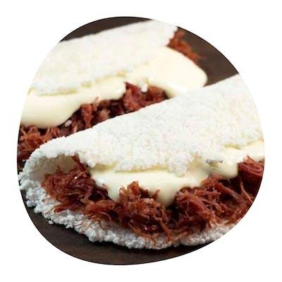Tapioca Recheada Nordestina (carne de sol e queijo) 200g