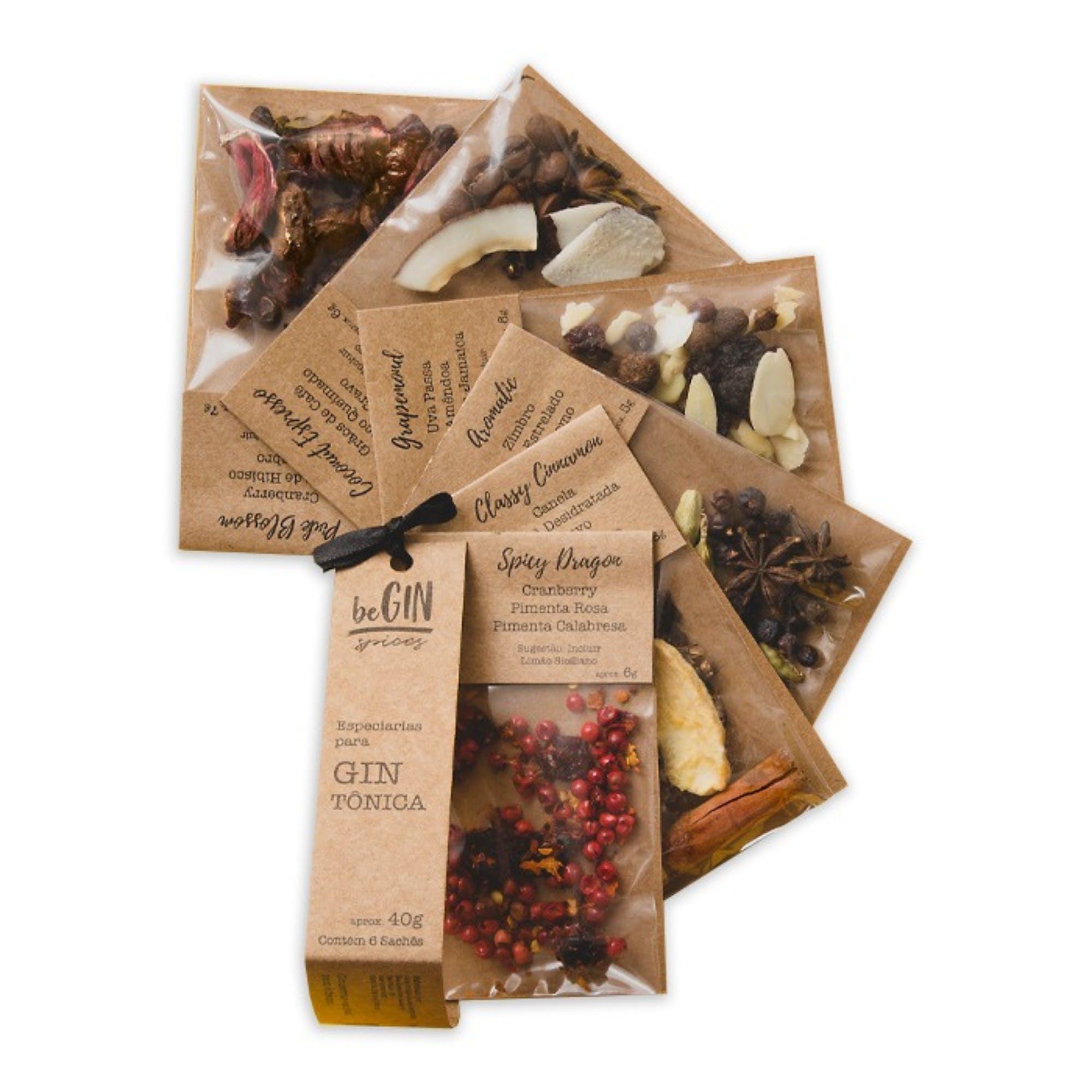 Begin Spices Kit 6 Sachês Especiarias para Gin Tônica