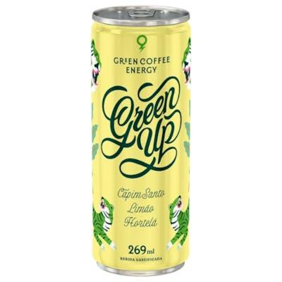 Energético Natural Green Up sabor Capim Santo, Limão e Hortelã 269ml