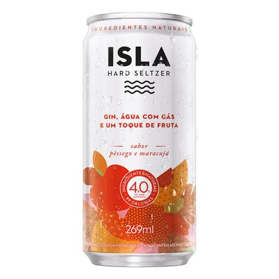 Isla Hard Seltzer Pêssego e Maracujá 269ml