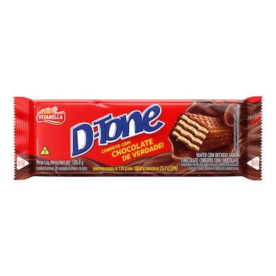 Vitarella Dtone Wafer Recheado Chocolate 100g