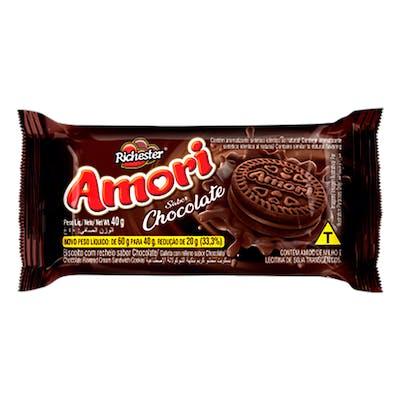 Richester Amori Recheado com Chocolate 40g