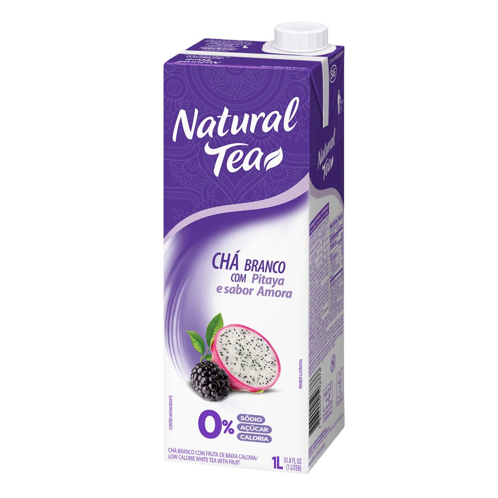 Chá Branco Pitaya E Amora Natural Tea 1L