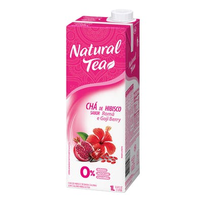 Chá Hibisco Romã E Goji Berry Natural Tea 1L
