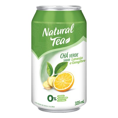 Chá Verde C/ Laranja E Gengibre Natural Tea Lata 335mL