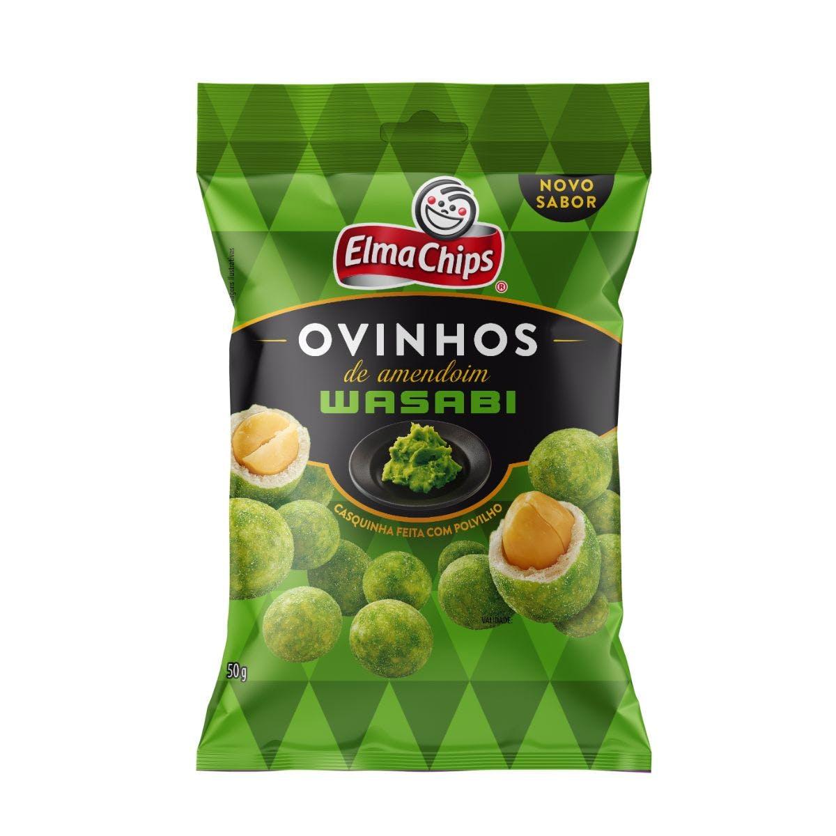 Ovinhos de Amendoim Wasabi Elma Chips 50g