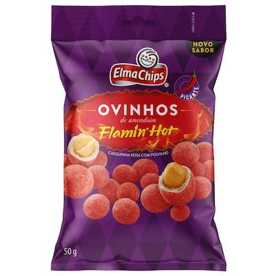 Ovinhos de Amendoim Flamin Hot Elma Chips 50g