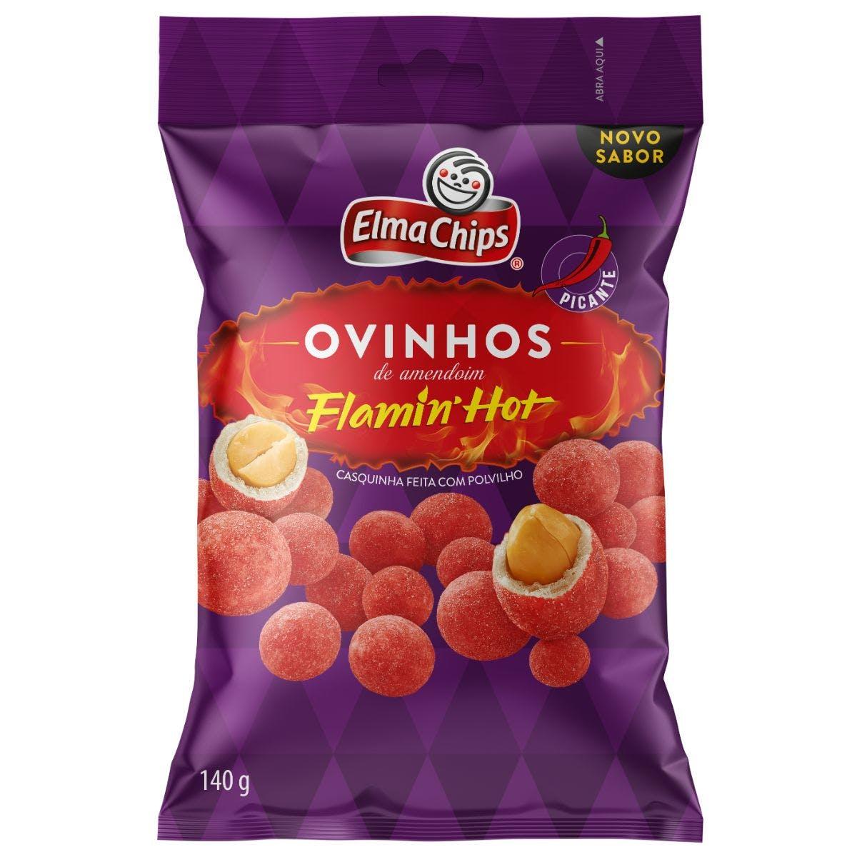 Ovinhos de Amendoim Flamin Hot Elma Chips 140g
