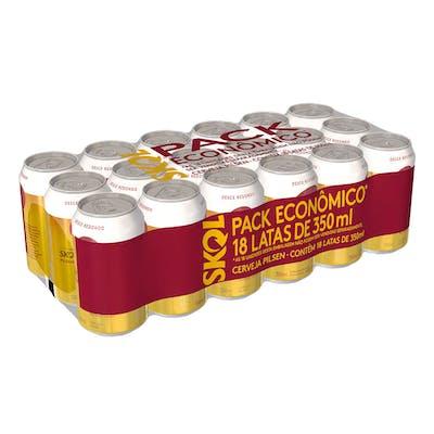Skol 350ml - Pack com 18 Unidades