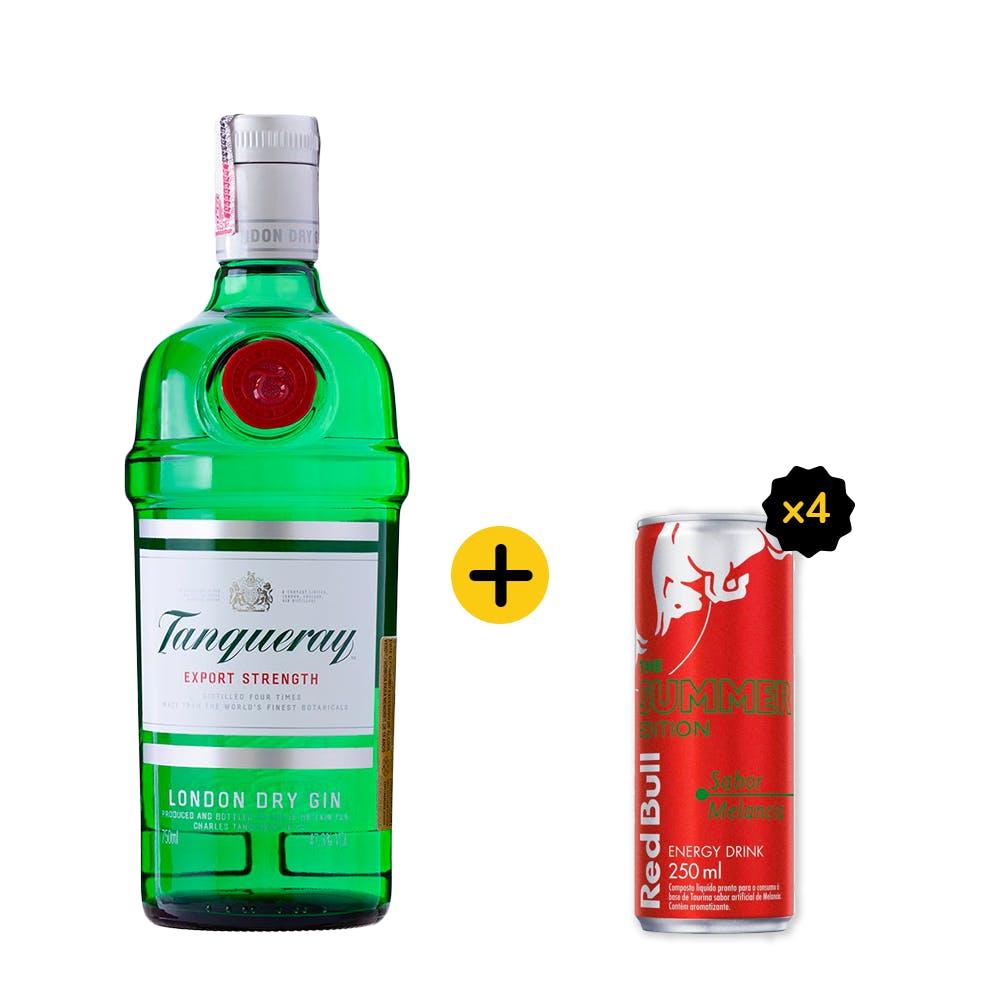Combo Tanqueray + Red Bull (1 Gin Tanqueray 750ml + 4 Red Bull Melancia 250ml)