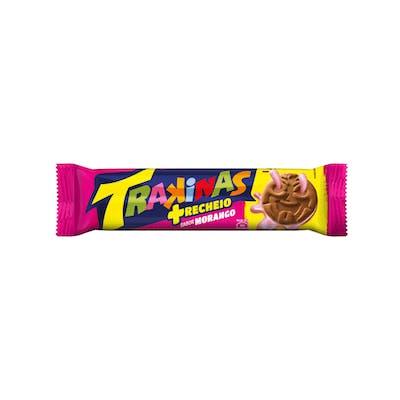 Biscoito Trakinas Mais Morango 126g