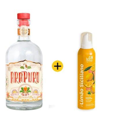 Combo Arapuru + Begin Spices (1 Gin Arapuru London Dry 750ml + 1 Begin Spices Espuma de Limão Siciliano 200ml)