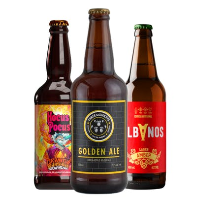 Combo Albanos Amber Lager | Three Monkeys Golden Ale | Hocus Orange Sunshine