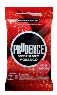 Preservativo Prudence Morango 3un