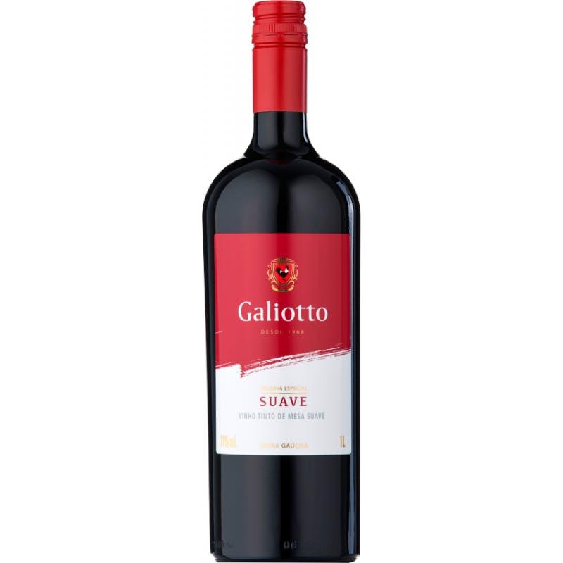 Vinho Tinto Suave Galiotto 1L
