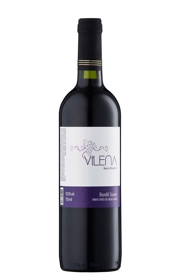 Vinho Tinto de Mesa Suave Vilena 750ml