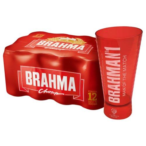 Kit Copo + 12 unidades de Brahma Extra Lager 350ml