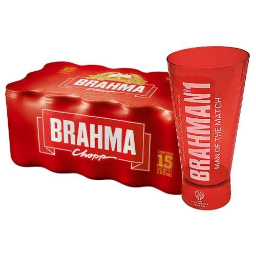 Kit Copo + 15 unidades de Brahma 269ml