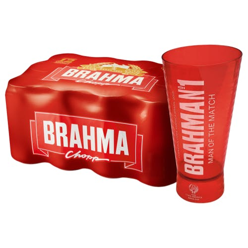 Kit Copo + 8 unidades de Brahma 473ml