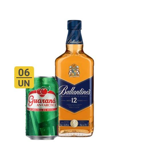 Combo Guaraná +  Ballantines (6 Guaraná 350ml + 1 Whisky Ballantines 12 anos 750ml)