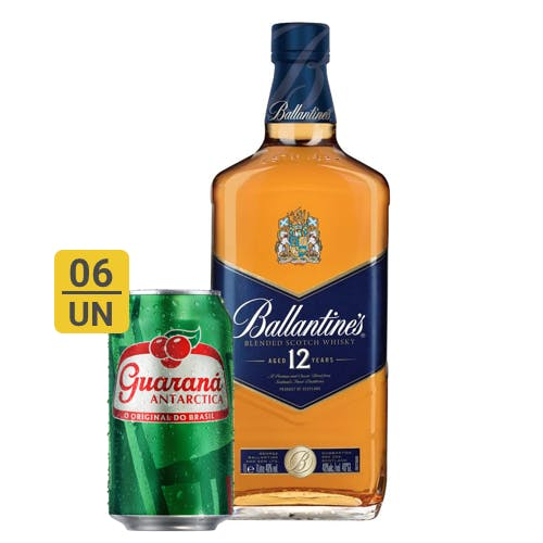 Combo Guaraná +  Ballantines (6 Guaraná 350ml + 1 Whisky Ballantines 12 anos 1L)