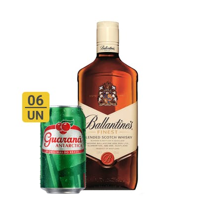 Combo Guaraná +  Ballantines (6 Guaraná 350ml + 1 Whisky Ballantines Finest 750 ml)