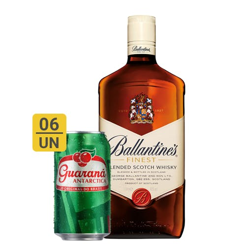Combo Guaraná +  Ballantines (6 Guaraná 350ml + 1 Whisky Ballantines Finest 1L)