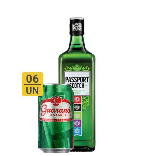 Combo Guaraná +  Passport Scotch (6 Guaraná 350ml + 1 Passport Scotch Whisky Escocês 670ml)