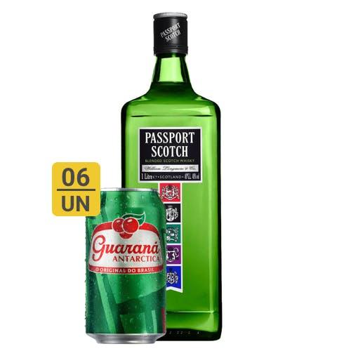 Combo Guaraná +  Passport Scotch (6 Guaraná 350ml + 1 Passport Scotch Whisky Escocês 1L)
