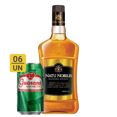 Combo Guaraná +  Nattu Nobilis (6 Guaraná 350ml + 1 Natu Nobilis Whisky Nacional 1L)