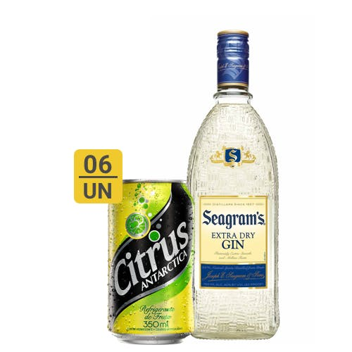Combo Citrus + Seagrams  (6 Citrus 350ml + 1 Seagram's Gin Extra Dry Americano 750ml)